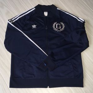 Adidas Navy Blue Track Jacket Size Small